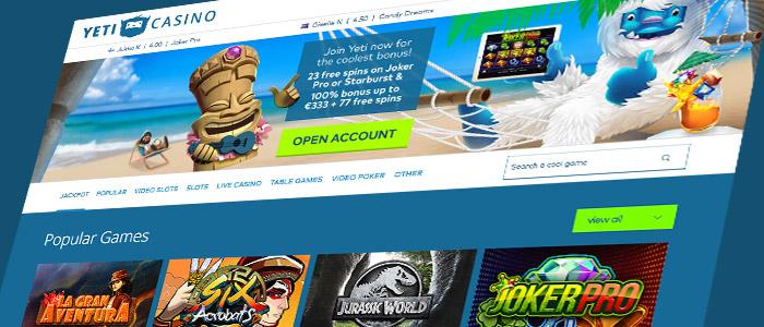 Yeti Casino-screenshot