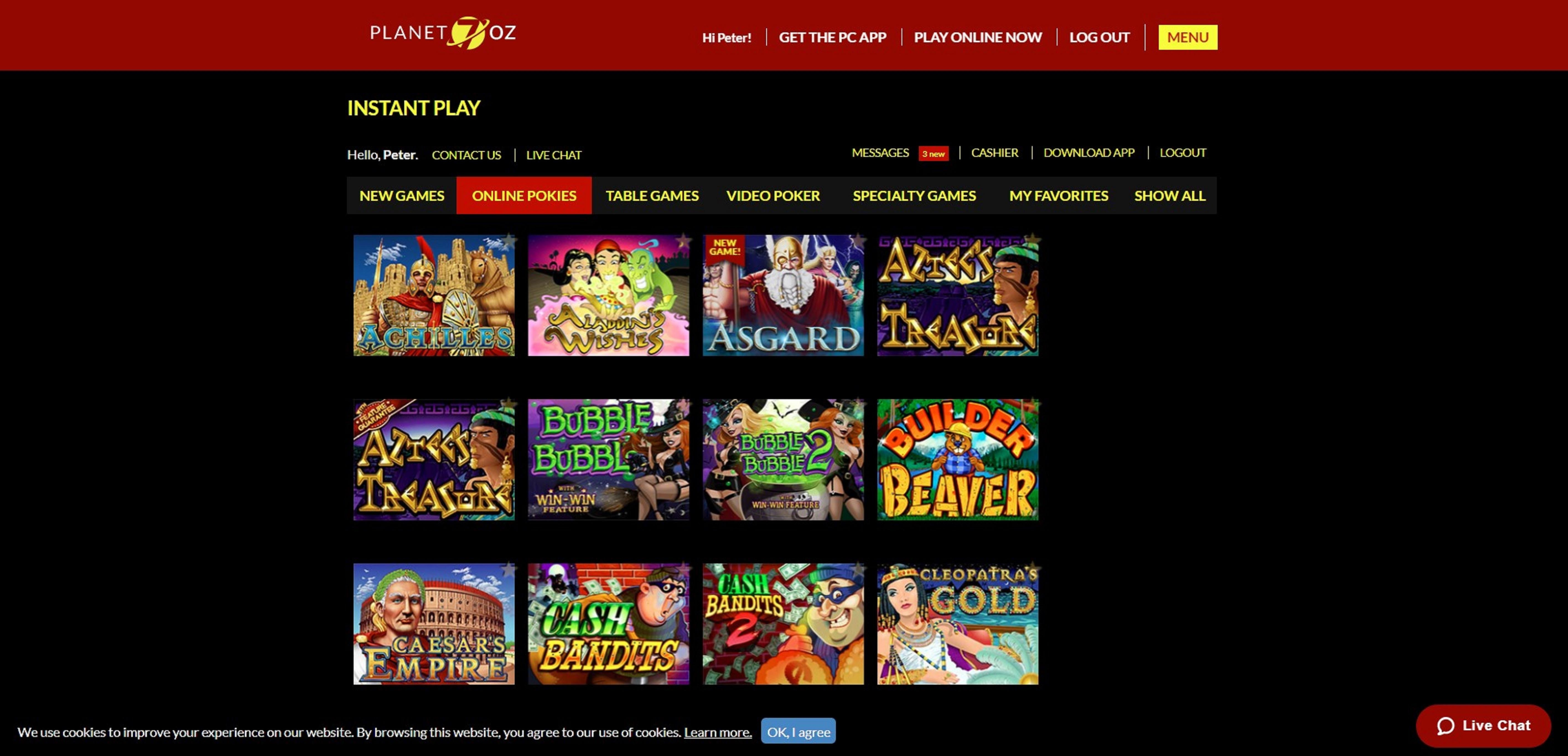 Planet 7 Oz Bonus - Online Pokies Site - January 2018