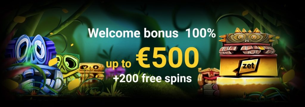ZetCasino - €500 + 200 free spins welcome offer