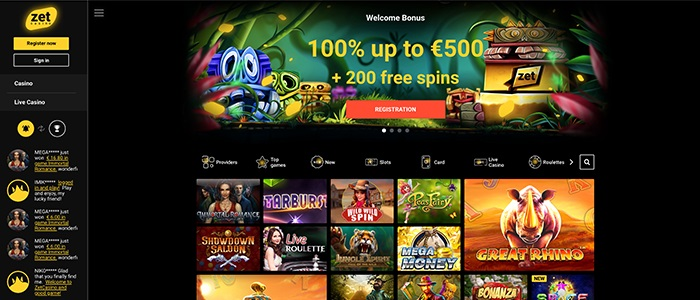 ZetCasino - welcome offer 500 euro + 200 free spins