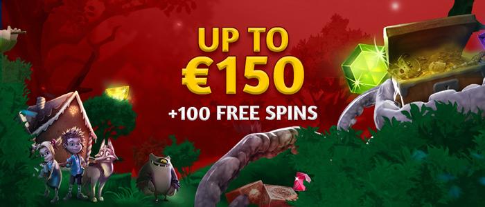 Slotsons - 150€ + 100 free spins welcome Bonus
