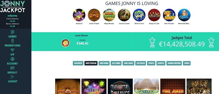 Jonny Jackpot - 100% up to 1.000 € + 100 free spins