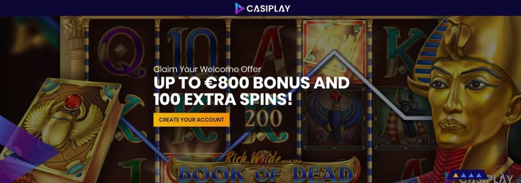 Casiplay Casino - €800 bonus + 100 free spins