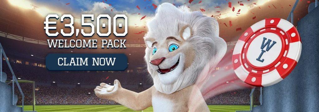 White Lion - €3.500 Welcome Bonus