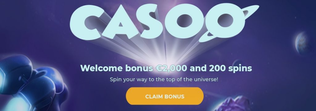 Casoo - 2.000 € bonus + 200 free spins