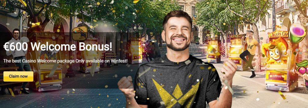 Winfest Casino - 600 Euro welcome bonus