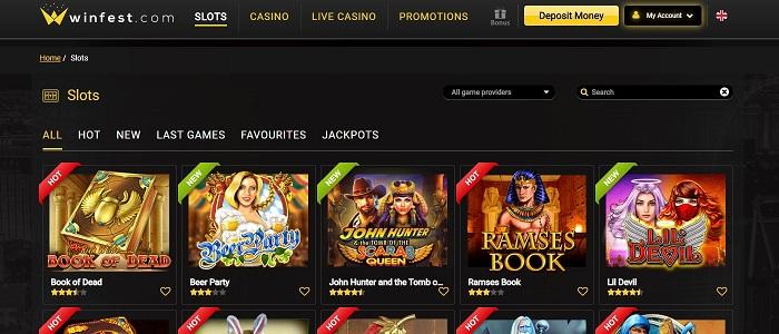 Winfest Casino - €600 Welcome Bonus
