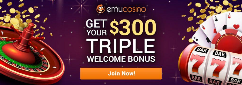 emucasino-AUD300-welcome-bonus