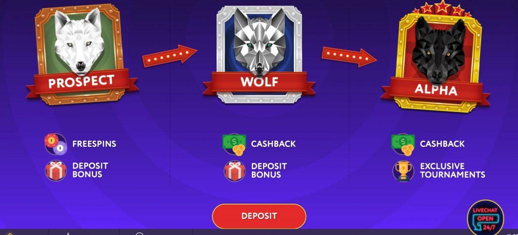 SlotWolf Casino - 100% Bonus up to €150