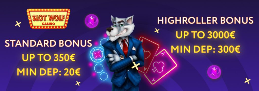 SlotWolf Casino - Get up to €350 Bonus