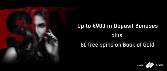 CasinoSinners - €900 bonus + 50 free spins